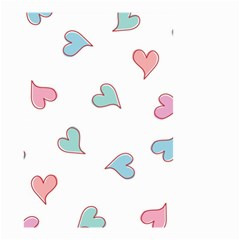 Colorful Random Hearts Small Garden Flag (Two Sides)