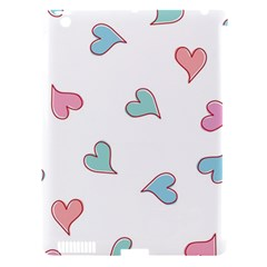 Colorful Random Hearts Apple iPad 3/4 Hardshell Case (Compatible with Smart Cover)