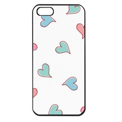 Colorful Random Hearts Apple Iphone 5 Seamless Case (black)