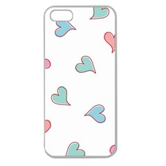 Colorful Random Hearts Apple Seamless iPhone 5 Case (Clear)