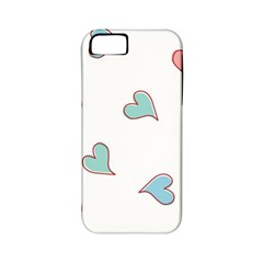 Colorful Random Hearts Apple Iphone 5 Classic Hardshell Case (pc+silicone)