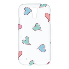 Colorful Random Hearts Samsung Galaxy S4 I9500/I9505 Hardshell Case
