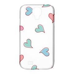 Colorful Random Hearts Samsung Galaxy S4 Classic Hardshell Case (pc+silicone)