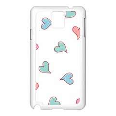 Colorful Random Hearts Samsung Galaxy Note 3 N9005 Case (White)