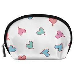 Colorful Random Hearts Accessory Pouches (Large)
