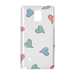 Colorful Random Hearts Samsung Galaxy Note 4 Hardshell Case