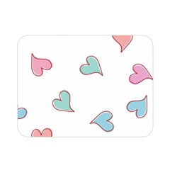 Colorful Random Hearts Double Sided Flano Blanket (mini)