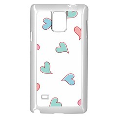 Colorful Random Hearts Samsung Galaxy Note 4 Case (white)