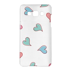 Colorful Random Hearts Samsung Galaxy A5 Hardshell Case