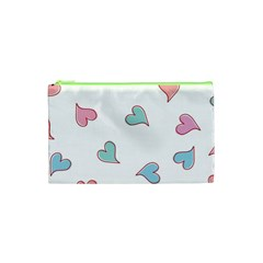 Colorful Random Hearts Cosmetic Bag (xs)