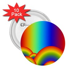 Background Rainbow 2.25  Buttons (10 pack)
