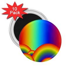Background Rainbow 2 25  Magnets (10 Pack)