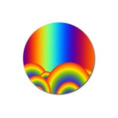 Background Rainbow Magnet 3  (round)