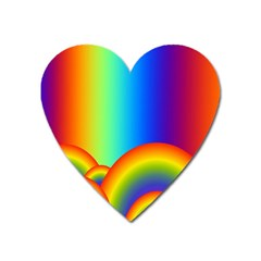 Background Rainbow Heart Magnet
