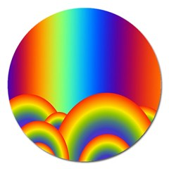 Background Rainbow Magnet 5  (round)