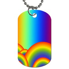 Background Rainbow Dog Tag (Two Sides)