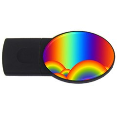 Background Rainbow USB Flash Drive Oval (2 GB)