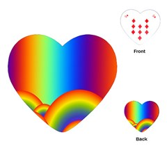 Background Rainbow Playing Cards (heart)