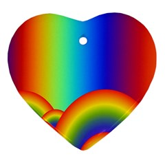 Background Rainbow Heart Ornament (Two Sides)