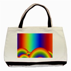 Background Rainbow Basic Tote Bag (Two Sides)