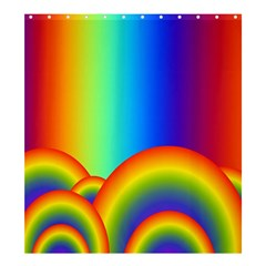 Background Rainbow Shower Curtain 66  X 72  (large)