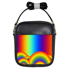 Background Rainbow Girls Sling Bags
