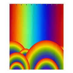 Background Rainbow Shower Curtain 60  x 72  (Medium)