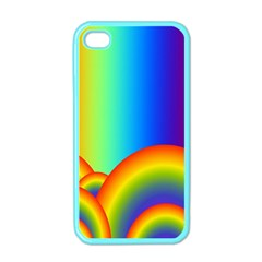 Background Rainbow Apple iPhone 4 Case (Color)