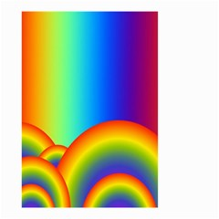 Background Rainbow Small Garden Flag (two Sides)