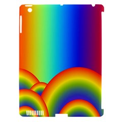 Background Rainbow Apple Ipad 3/4 Hardshell Case (compatible With Smart Cover)