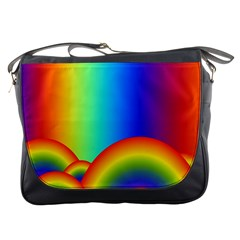 Background Rainbow Messenger Bags