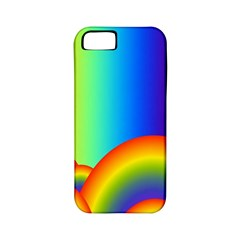 Background Rainbow Apple iPhone 5 Classic Hardshell Case (PC+Silicone)
