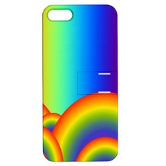 Background Rainbow Apple iPhone 5 Hardshell Case with Stand