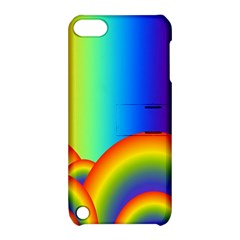 Background Rainbow Apple iPod Touch 5 Hardshell Case with Stand