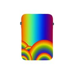Background Rainbow Apple Ipad Mini Protective Soft Cases