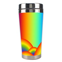 Background Rainbow Stainless Steel Travel Tumblers