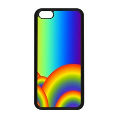 Background Rainbow Apple Iphone 5c Seamless Case (black)