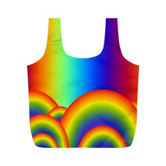 Background Rainbow Full Print Recycle Bags (m)