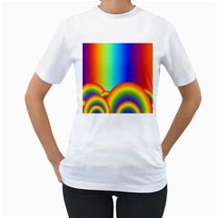 Background Rainbow Women s T Shirt (white)