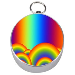 Background Rainbow Silver Compasses