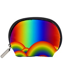 Background Rainbow Accessory Pouches (small)