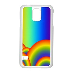 Background Rainbow Samsung Galaxy S5 Case (white)