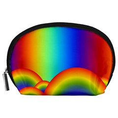 Background Rainbow Accessory Pouches (Large)