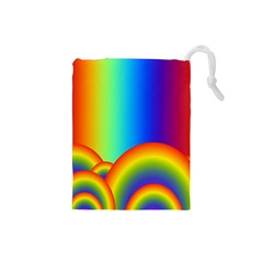 Background Rainbow Drawstring Pouches (small)