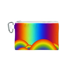 Background Rainbow Canvas Cosmetic Bag (S)