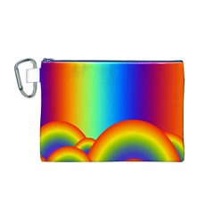 Background Rainbow Canvas Cosmetic Bag (M)