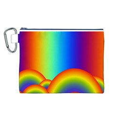Background Rainbow Canvas Cosmetic Bag (l)