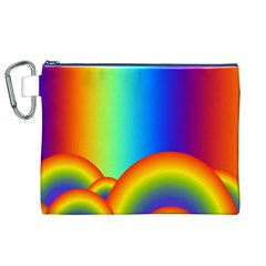 Background Rainbow Canvas Cosmetic Bag (xl)