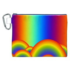 Background Rainbow Canvas Cosmetic Bag (XXL)