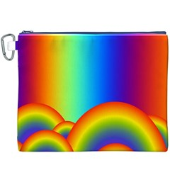 Background Rainbow Canvas Cosmetic Bag (xxxl)